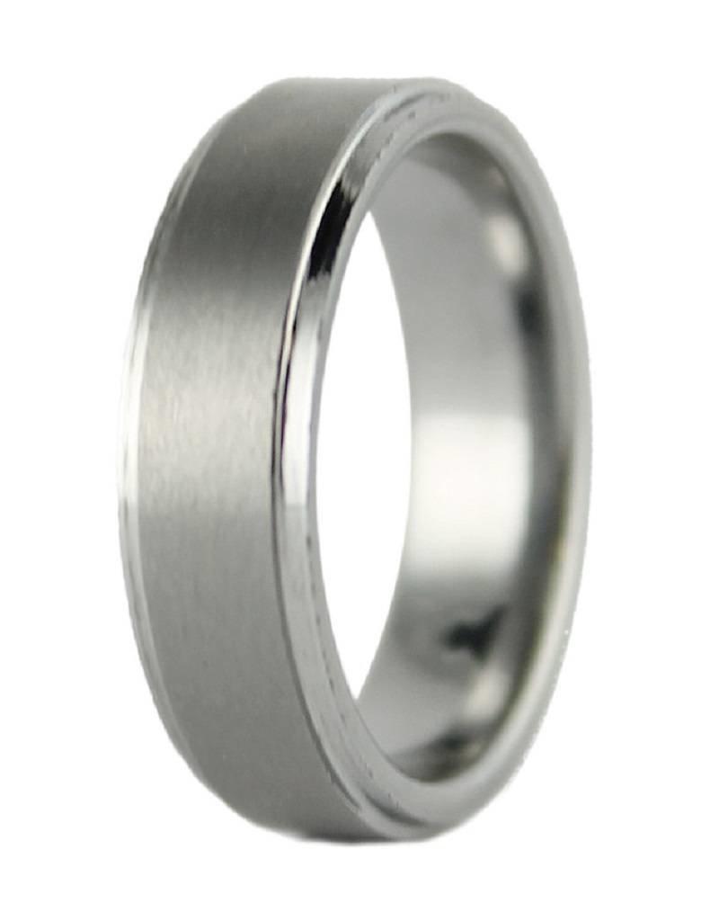 Men's Brushed Tungsten Band Ring