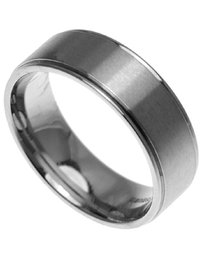 Men's Stainless Steel Brushed Band Ring