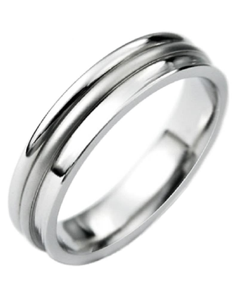 Men's Stainless Steel Concave Band Ring