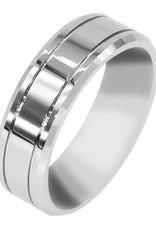 Men's Tungsten 2-Line Band Ring