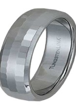 Men's Faceted Tungsten Band Ring Size 11
