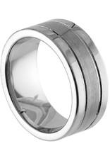 Men's 2-Line Tungsten Band Ring
