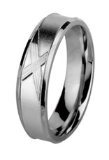 Men's Stainless Steel X-design Band Ring Size 11