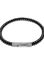 Men's Stainless Steel Braided Cable Bracelet 8.5""
