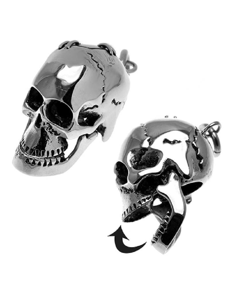 Stainless Steel Skull Pendant 36mm