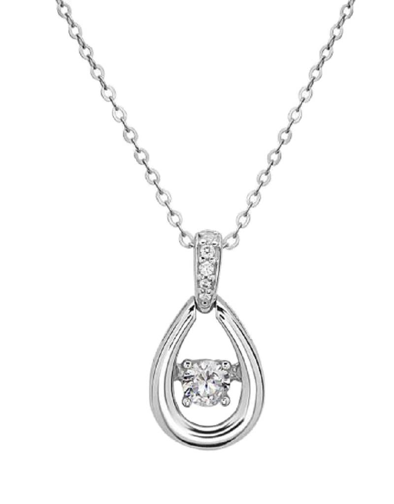 Teardrop Dancing CZ Necklace
