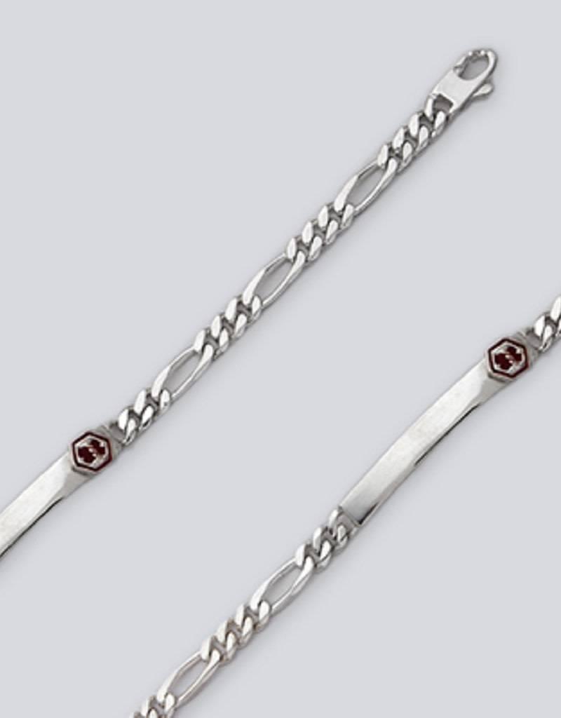 "Figaro 180 Medical ID Bracelet 8"""