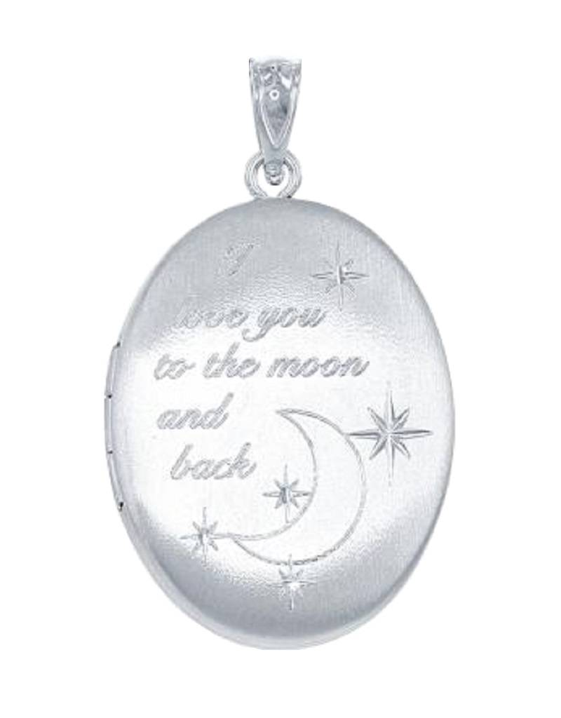 Oval Love to Moon Locket 25mm
