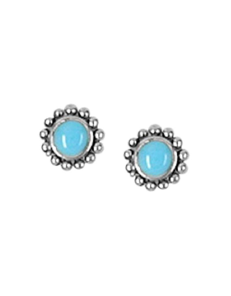 Round Turquoise Stud Earrings 6mm