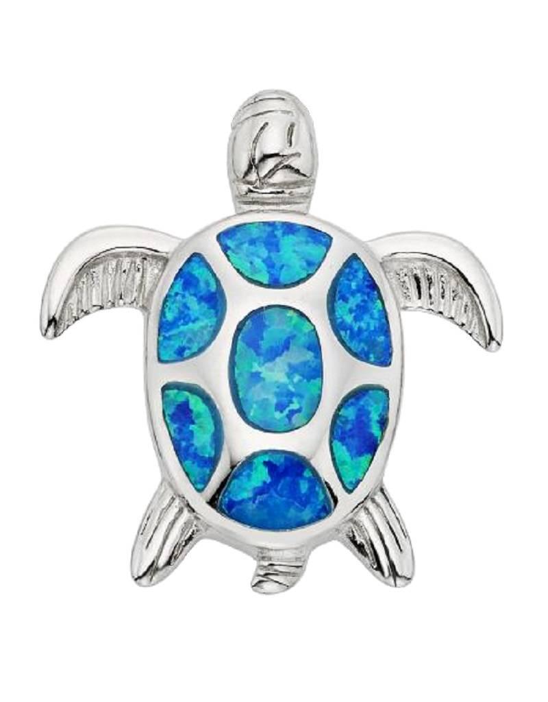 Turtle Blue Opal Pendant 24mm