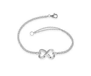 Double Strand Heart Infinity Bracelet 7