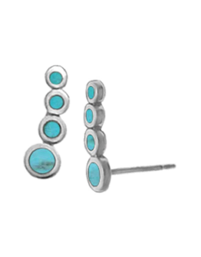 Turquoise Ear Climber Earrings
