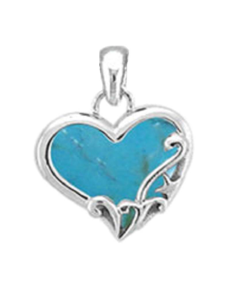 Heart Turquoise Pendant 13mm