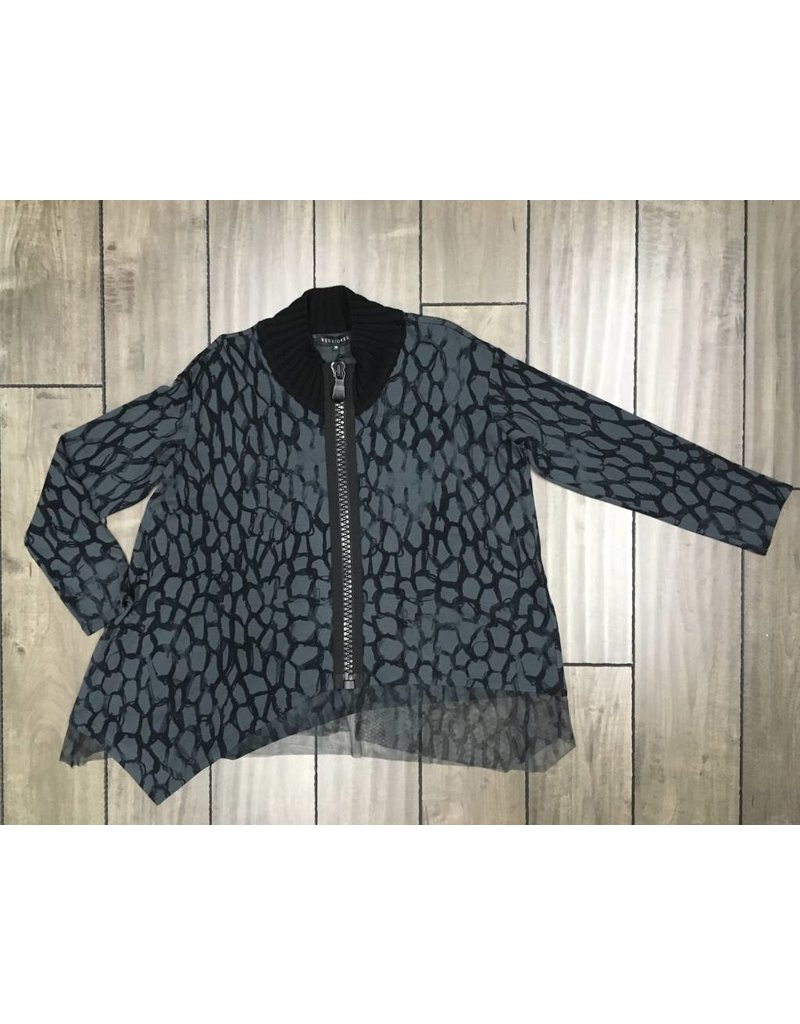 KEDZIOREK Kedziorek- Zip Jacket in Grey
