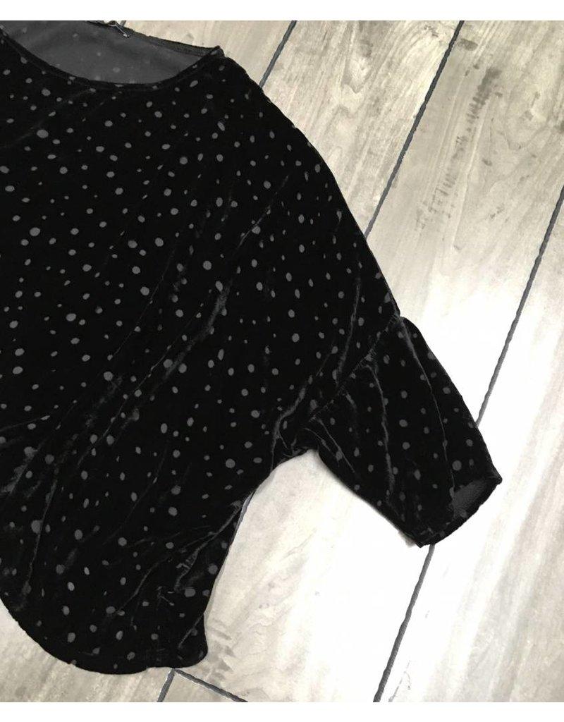 Cut Loose CUT LOOSE- Crop Velvet Dot- O/S