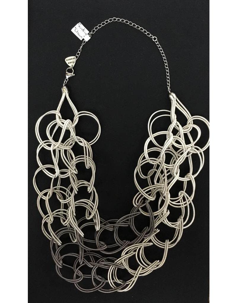 Sandrine Giraud Sandrine Giraud- Twist Necklace in Grey