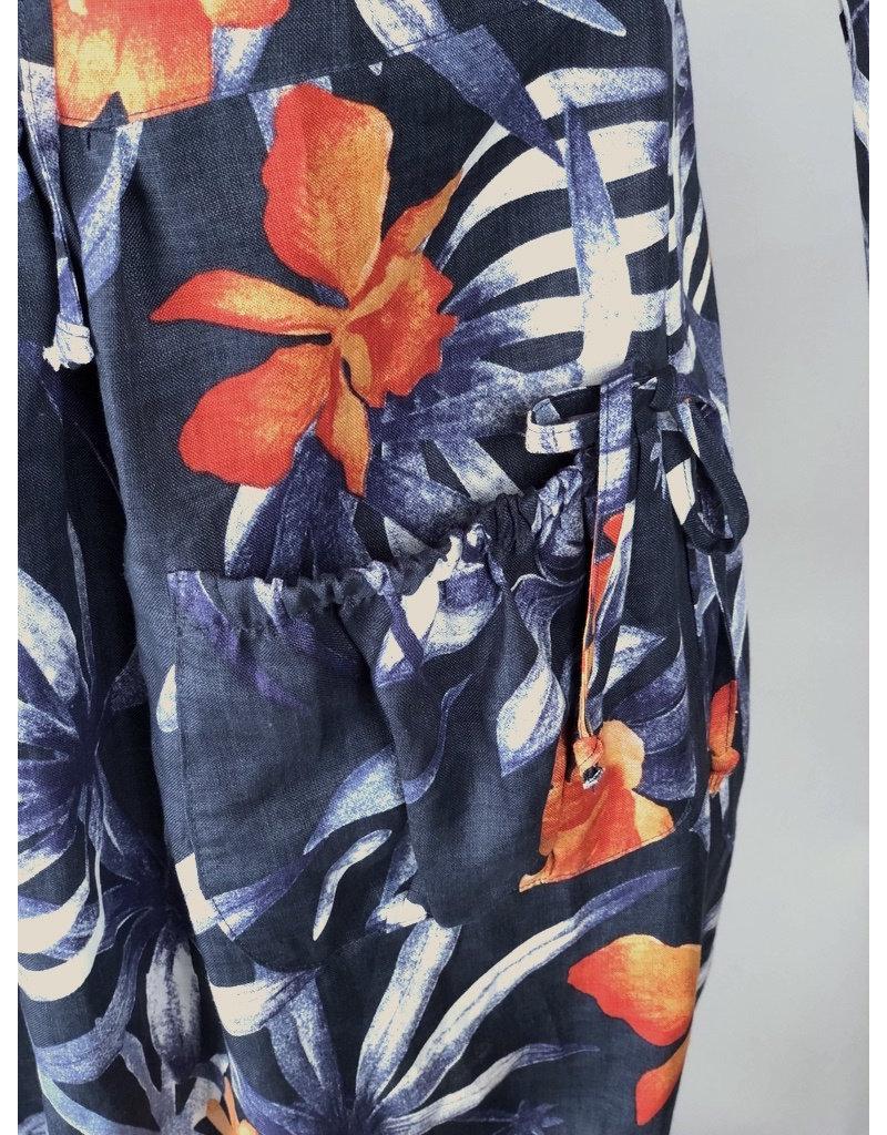 Lousje & Bean L&B-Harlem Dress in Flower Linen