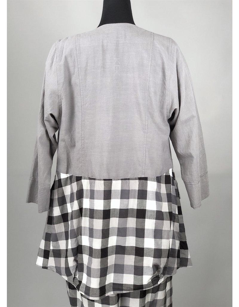 Kekoo Kekoo-Grey With Check Jacket