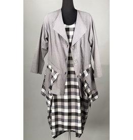 Kekoo-Grey With Check Jacket