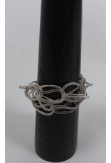 Sandrine Giraud Sandrine Giraud-Twist Bracelet in Grey