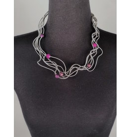 Sandrine Giraud Sandrine Giraud-Fine Wire/Plum Ball Necklace