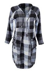 Lousje & Bean L&B-Harlem Dress in Check Linen