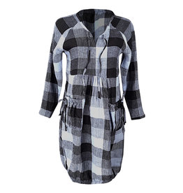 Lousje & Bean L&B-Harlem Dress in Check Linen