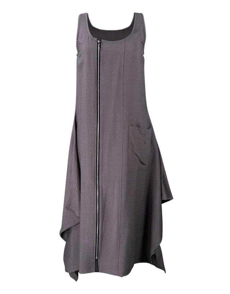 Lousje & Bean L&B-Zipper Dress in Grey