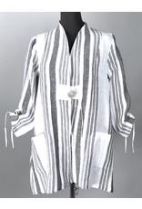 Lousje & Bean L&B-Linen Frouke Jacket Wht Stripe