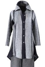 Lousje & Bean L&B-The Shirt in Stripe Linen