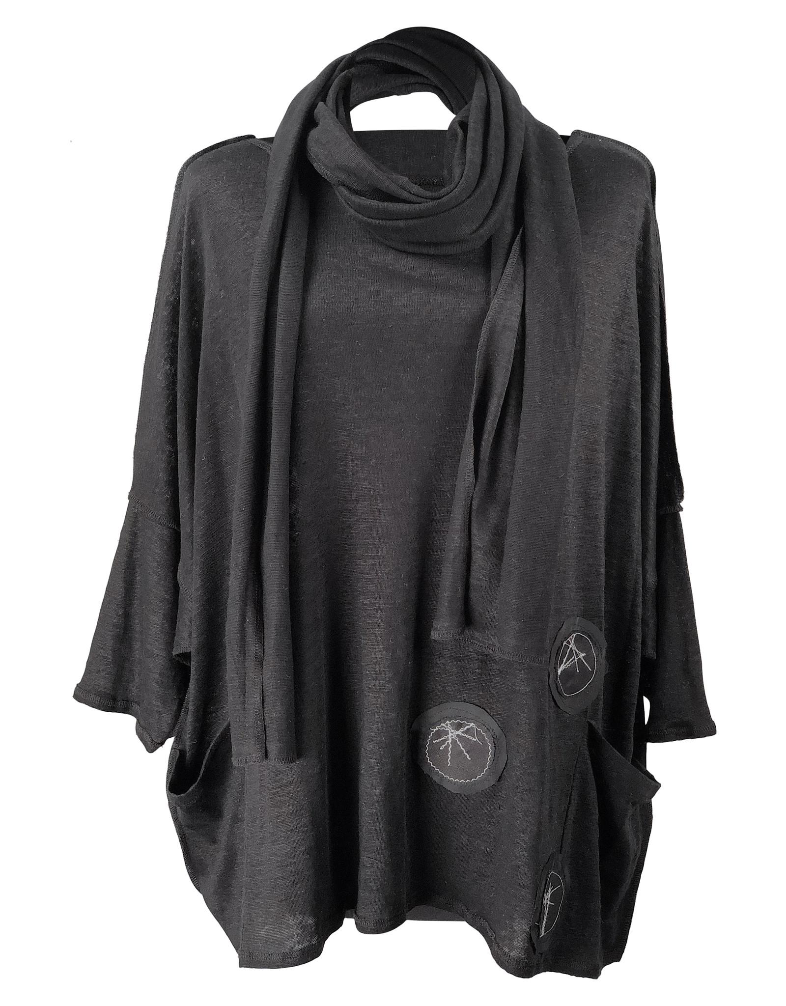 Lousje & Bean L&B- Jack Linen Knit in Black