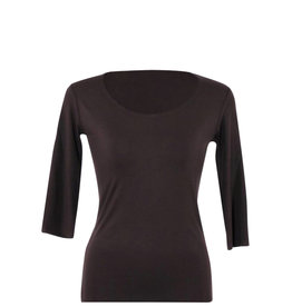 Lousje & Bean L&B- Scoop Top 3/4 in Black