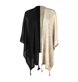 Ireland-Linen Cape Blk/Natural One Size