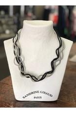 Sandrine Giraud Sandrine Giraud-Wire Black & Silver Necklace