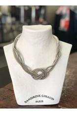Sandrine Giraud Sandrine Giraud-Wire Knot in Silver Necklace