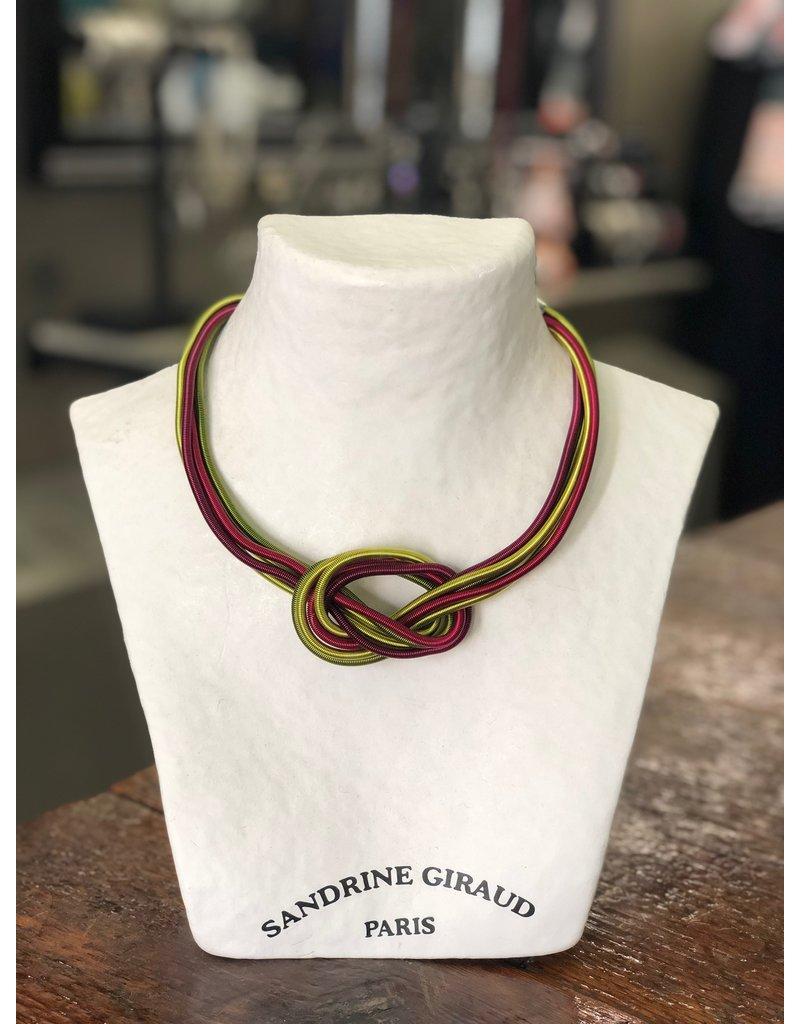 Sandrine Giraud Sandrine Giraud-Wire Knot in Chart/Red Necklace