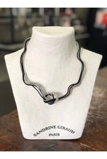 Sandrine Giraud Sandrine Giraud-Fine Wire Knot Blk/Silver Necklace