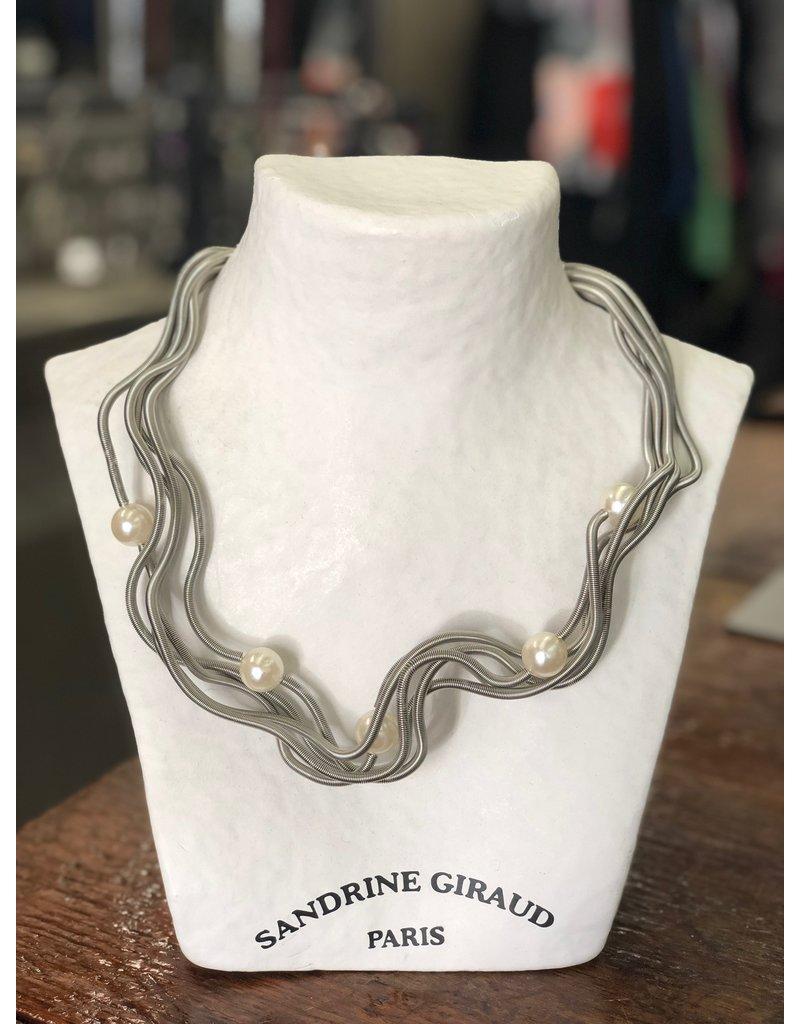 Sandrine Giraud Sandrine Giraud-Wire & Pearl Necklace