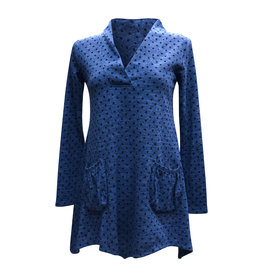 Lousje & Bean L&B-Aline Tunic in Blue Dot
