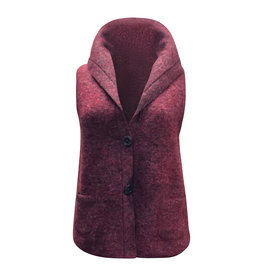 Cut Loose Cut Loose-Boiled Wool Vest in Cranberry
