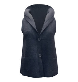 Cut Loose Cut Loose-Boiled Wool Vest in Black