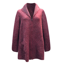 Cut Loose Cut Loose- Zip Swing  Jacket in Cranberry