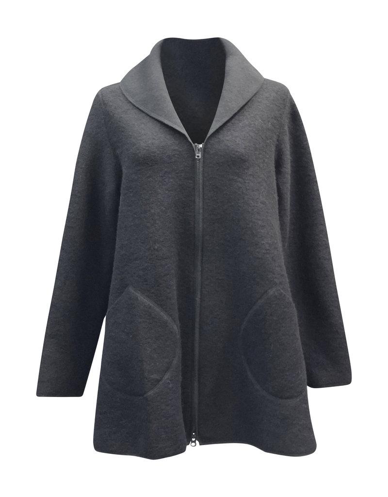 Cut Loose Cut Loose-Boiled Wool-Zip Swing  Jacket