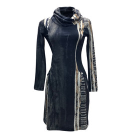 Lousje & Bean L&B- Collar Dress in Chocolate Print