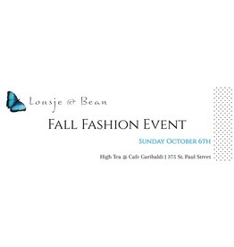 Lousje & Bean Fall Fashion Show 2019