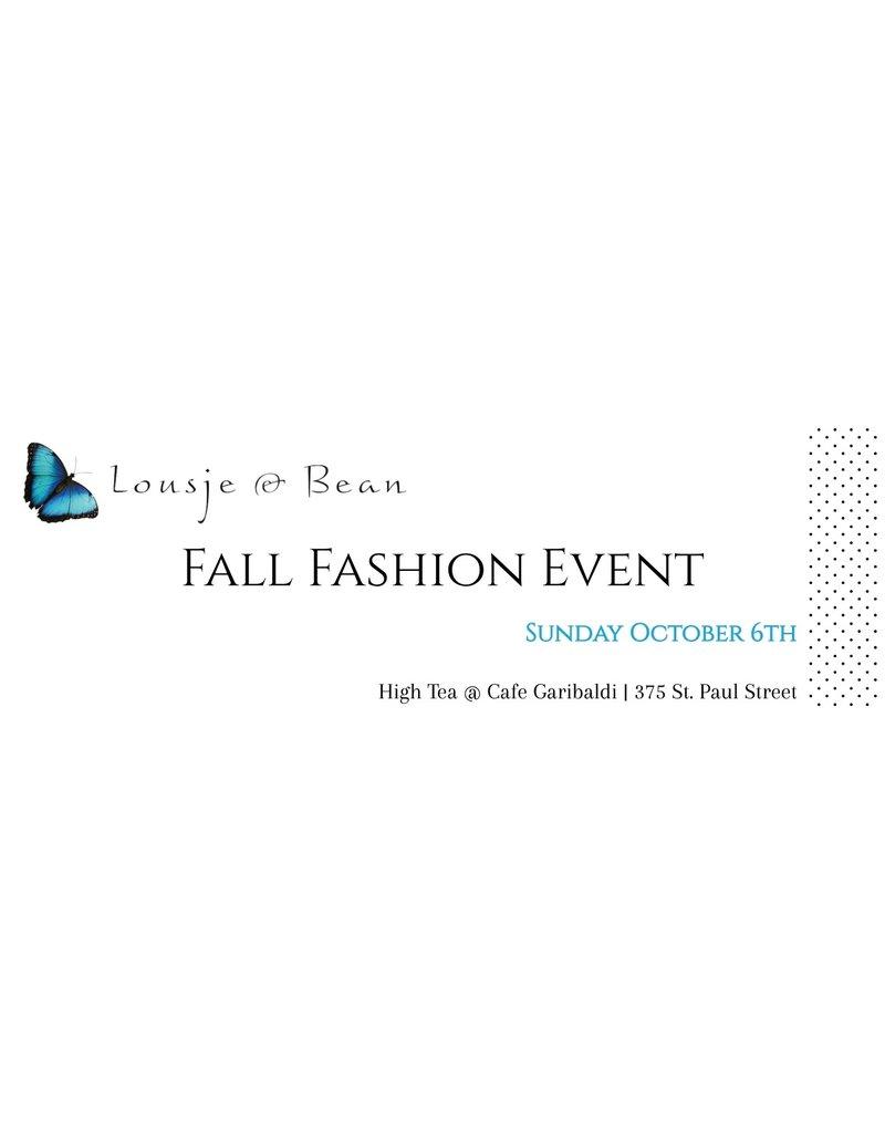 Lousje & Bean Fall Fashion Show 2019