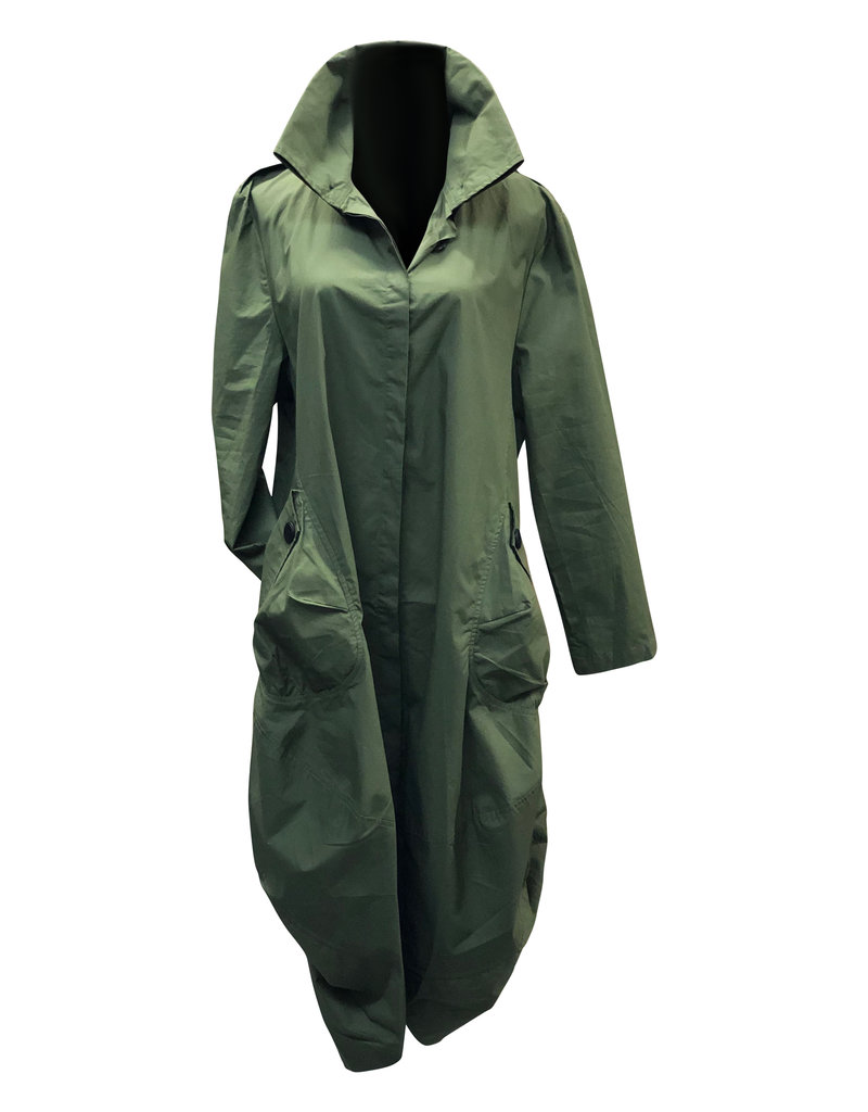 Paolo Paolo- Trench Coat Olive