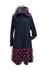 Boris BORIS- Coat in Blk/Red #1112