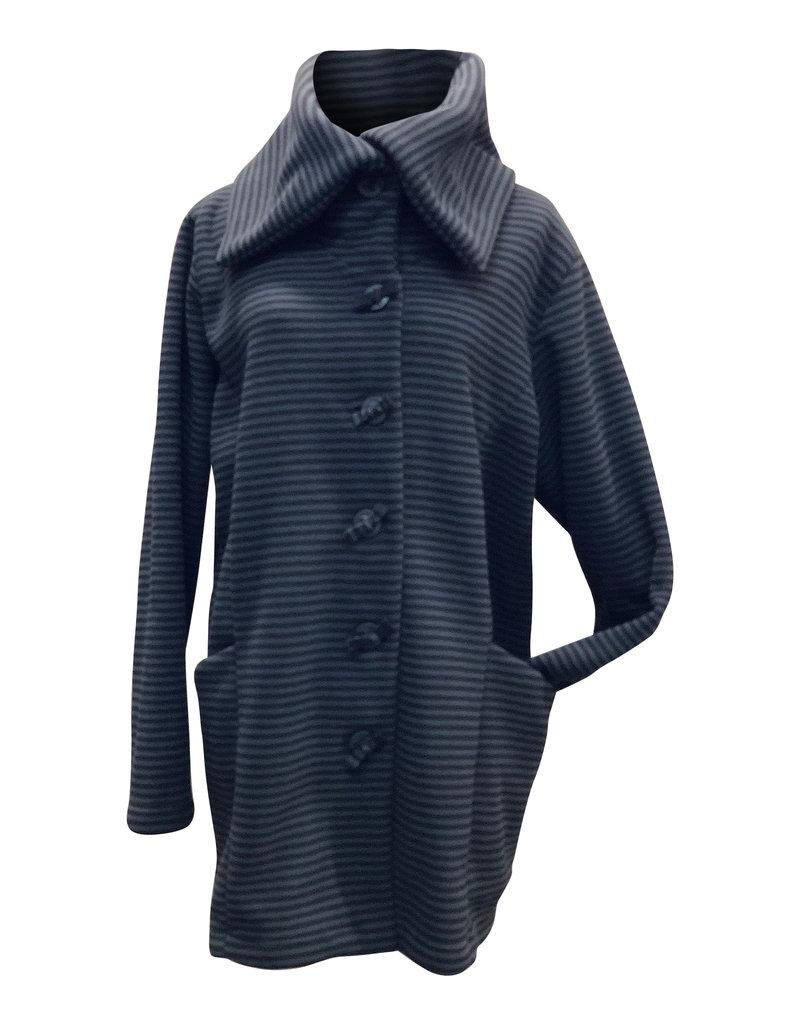 Boris BORIS- Coat in Stripes #1000