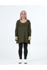 Advika Advika-Breathe Top LS Forest Green